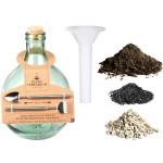 Rivanto® DIY Set Terrariumflasche 5 Liter aus recyceltem Glas, 29,5 x 29,5 x 43,7 cm, mit Mini-Werkzeug, passgenauer Verschluss-Korken