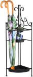 Rivanto® Eck- Regenschirmständer aus Metall, faltbar, 26,8 x 26,8 x 95,8 cm, für mehrere große und kleine Regenschirme, schwarz