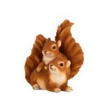 Rivanto® Eichhörnchen, Dekoration, für Haus & Garten, L 14,4 x B 15,7 x H 16,8 cm