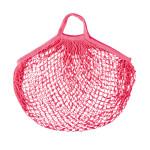 Rivanto® Einkaufsnetz mit Griffen, aus dehnbarem Polyester, großmaschig, 42 x 47 cm, pink, umweltschonende Einkaufstasche