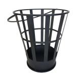 Rivanto® Feuereimer, Feuerholzkorb, Ø 35 cm, fester Stand, Höhe 40 cm, Feuerstelle aus Stahl, Feuerschale mit Tragegriff