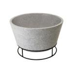 Rivanto® Feuerschale in Betonlook, aus Ton, mit Eisengestell, Ø 47 x 29,3 cm, stabiler Stand, Grillschale,