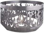 Rivanto® Feuerschalenaufsatz Flammenmotiv aus Carbonstahl, Ø 56 x 33 cm, Fancy Flames Collection, attraktive Gartendekoration, Lagerfeuer