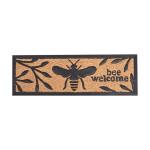 Rivanto® Fußmatte Biene aus Kokosfaser, 25 x 75,5 x H 1 cm, Gummi Stufenmatte mit Kokosfasern, Türvorleger, Schuhmatte
