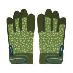 Rivanto® Garten Handschuhe gemustert Größe M, Pflanz- und Bodenhandschuhe für Garten und Beet, Arbeitshandschuhe mit Klettverschluss, atmungsaktiv