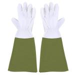 Rivanto® Garten Handschuhe mit Stulpe Größe L, Länge 19 cm, Pflanz- und Bodenhandschuhe für Garten und Beet, Arbeitshandschuhe, atmungsaktiv