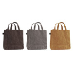 Rivanto® Gewachste Canvas Tasche Größe S, farbig sortiert, Einkaufs- und Freizeittasche 9 x 25 x 35 cm