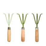 Rivanto® Grüntöne Serie Handharke, farbig sortiert, 24 cm, verschiedene Grüntöne, hellgrün/grün/dunkelgrün, Farbwahl nicht möglich