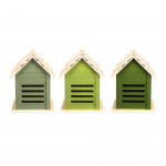 2 Stück Rivanto® Grüntöne Serie Marienkäferhaus, farbig sortiert, verschiedene Grüntöne, hellgrün/grün/dunkelgrün, Farbwahl nicht möglich