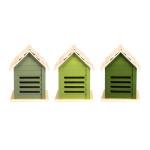 Rivanto® Grüntöne Serie Marienkäferhaus, farbig sortiert, verschiedene Grüntöne, hellgrün/grün/dunkelgrün, Farbwahl nicht möglich