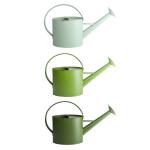 Rivanto® Grüntöne Serie Outdoor Gießkanne mit großem Griff, farbig sortierte Grüntöne, hellgrün/grün/dunkelgrün, Farbwahl nicht möglich
