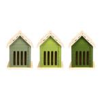 Rivanto® Grüntöne Serie Schmetterlingshaus, farbig sortiert, verschiedene Grüntöne, hellgrün/grün/dunkelgrün, Farbwahl nicht möglich