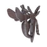 Rivanto® Gusseisen Türklopfer Motiv Biene, Bienenfigur als klassische Türglocke L 8 x B 12 x H 12,5 cm