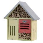 Rivanto® Insektenhotel mit Metalldach, Größe wählbar, FSC-Kiefernholz, Insekten Haus