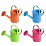 Rivanto® Kindergießkanne aus Metall, mit Brause-Aufsatz, Tragegriff und Henkel, farbig sortiert, Farbwahl nicht möglich, orange / blau / pink / grün