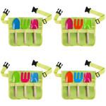 Rivanto® Kindergürtel mit Gartengeräte, Harke/Schaufel/Hand-Spaten, farbig sortiert, Farbwahl nicht möglich, mit Schnallen-Verschluss, Werkzeuggürtel