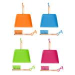 Rivanto® Kinderhandfeger und Besen, 20 x 23 x 8,5 / 20 x 4 x 5,8 cm, Metallschaufel/Handbesen mit Holzgriff,Aufhängeöse, Farbwahl nicht möglich