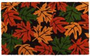 Rivanto® Kokosmatte aus Kokosfaser/Kunststoff, in Herbstblätter Optik 60 x 40 x 1,6 cm, Türvorleger, Fußabstreifer, braun