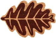 Rivanto® Kokosmatte aus Kokosfaser/Kunststoff, in Herbstblatt Form, 60 x 39,5 x 1,6 cm, Türvorleger, Fußabstreifer, braun