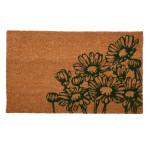 Rivanto® Kokosmatte Blumen aus Kokosfaser/Kunststoff, 75 x 45 x 1,7 cm, Fußabstreifer, Fußabstreifer, Schuhabstreifer, Schuhmatte