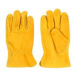 Rivanto® Kuhleder Garten Handschuhe Größe L, Pflanz- und Bodenhandschuhe für Garten und Beet, Arbeitshandschuhe, atmungsaktiv