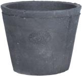 5 Stück Rivanto® Pflanztopf aus Terracotta, rund, Ø 11,4 x 9,3 cm, Blumentopf, Pflanztopf in grau