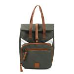 Rivanto® Picknick- Fahrradtasche aus Polyester/Nylon/Edelstahl/Eisen/Kunststoff, 25 x 18 x 36cm, mit Camping-Besteck und Geschirr