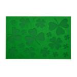 Rivanto® Relief-Türmatte Glücksklee aus Kokosfaser, 60 x 40 x 0,3 cm, klassische Optik, Türvorleger, Fußabstreifer, grau/schwarz