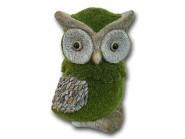 Rivanto® Rivanto® Eule 'Paula', aus Magnesia, geflockt, 19,5 x 17 x 28 cm, Gartendekoration, in grün