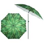 Rivanto® Sonnenschirm Bananenblätter mit Metallstiel, Ø 184 cm, Höhe 226 cm, höhenverstellbar, kann abgewinkelt werden, grüne Bananenblätter Optik