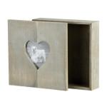 Rivanto® Steck-Holz-Geschenkbox mit Herz-Bilderrahmen