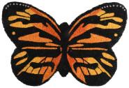 Rivanto® Türmatte aus Kokosfaser, in Schmetterling Form, 60 x 40 x 1,9 cm, Türvorleger, Fußabstreifer, braun