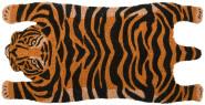 Rivanto® Türmatte aus Kokosfaser, in Tiger Form, 75 x 37,5 x 1,7 cm, Türvorleger, Fußabstreifer, braun