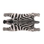 Rivanto® Türmatte mit Zebra-Motiv aus Kokosfasern, Breite 75 x Länge 38 cm, 2 cm dick, Türvorleger, Fußabstreifer, Schuhmatte aus Naturfaser