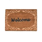 Rivanto® Türmatte 'welcome' aus Kokosfaser, 60 x 40 x 1,7 cm, mit 'welcome' Relief Schriftzug, Türvorleger, Fußabstreifer, hellbraun/braun