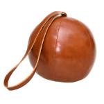 Rivanto® Türstopper Lederball mit Schlinge, 1,2 kg, aus Kunststoff/Sand/Polyesterfüllwatte, Ø 16,3 x 14,8 cm