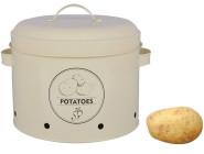 Rivanto Vorratsdose Kartoffeln, Kartoffeldose, aus Metall, 27,0 x 23,2 x 21,3 cm, mit Belüftungslöchern