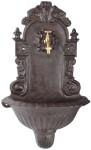 Rivanto® Wandbrunnen aus Gusseisen, 37,7 x 17,2 x 61 cm, in klassischer Optik, einfache Montage, Gartendekoration