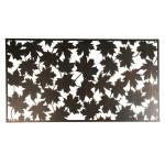 Rivanto® Wanddekoration rechteckig Blätter aus Stahl, 60,2 x 120 x 1,5 cm, Wandelement, Wandobjekt, mit Montagelochungen