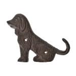 Rivanto® Wandhaken Hundeschwanz einzeln aus Gusseisen, 12,2 x 2,3 x 9,5 cm, Garderoben Haken für Wandmontage