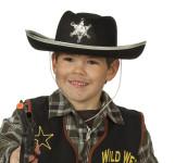 RUBIE'S Faschingshut - Cowboyhut, schwarz