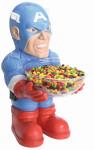 RUBIE'S Captain America Candy Bowl Holder, Süßigkeitenspender, Halloween Deko Figur