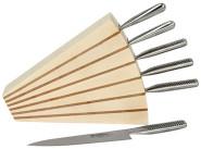 Scanwood Messerblock für 6 Messer Linden- & Kirschholz 26 x 6,5 x 23,7 cm