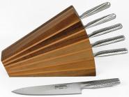 Scanwood Messerblock für 6 Messer Walnuss- & Kirschholz 26 x 6,5 x 23,7 cm