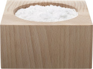 Scanwood Salz- / Pfeffertopf klein Buchenholz 6,5 x 6,5 x 3,25 cm