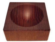 Scanwood Salz- / Pfeffertopf klein Robinienholz 6,5 x 6,5 x 3,25 cm