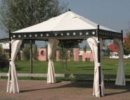 SIENA GARDEN 4 Ersatz-Seitenteile für Pavillon Korfu, original Ersatzteil, 2x3,5 m, Seitenwände aus 100% Polyester, wasserabweisend, m. Reißverschluss
