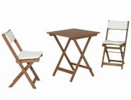 SIENA GARDEN Almeria Balkon-Set 2 Stühle und 1 Tisch Akazie FSC Mix 70%