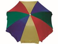 SIENA GARDEN Beach Schirm, Ø 180 cm Nylonbezug 4 Farben, 8-teilig