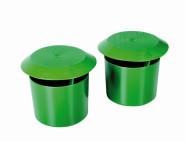 SIENA GARDEN Bio Schneckenfalle 2 Stück grünes Kunststoffgehäuse mit Decke